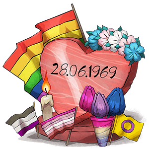 2fad7fe4f June is Pride Month! Donating €5 in June awards you the Pride Dice!  Donating €10 awards you the all new Pride Tombstone! You can do multiple  smaller ...